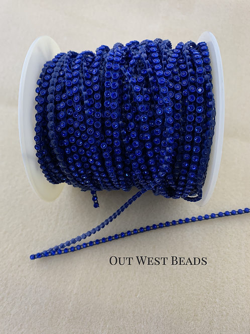 Crystal Banding - Sapphire on Navy