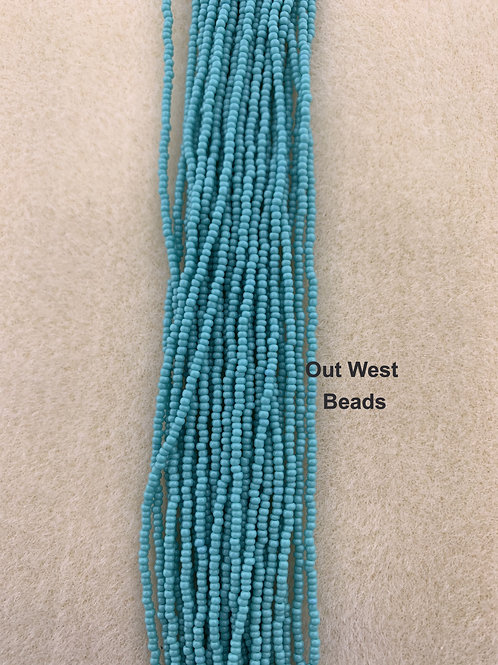 Size 13 Seed Beads Green Turquoise - 117