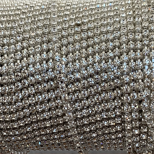 Crystal on Silver Plate - 6.5ss Metal Banding