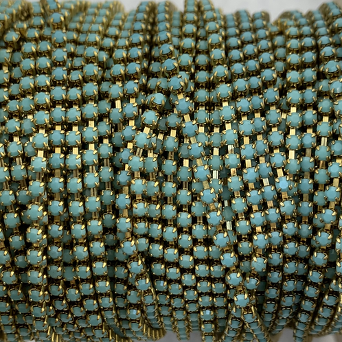 Turquoise on Brass - 6.5ss Metal Banding