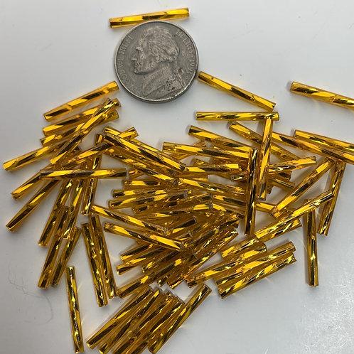 SilverLine Dark Yellow 20mm Twist Bugles - 20009