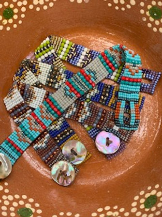 Abalone Weave Bracelet Instructions