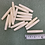 Thumbnail: Thin Bone Hairpipe Beads - 1""