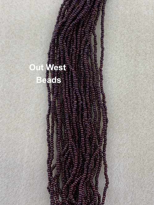 Size 13 Cut Beads Dark Brown