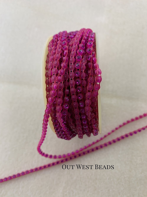 Crystal Banding - Pink on Hot Pink