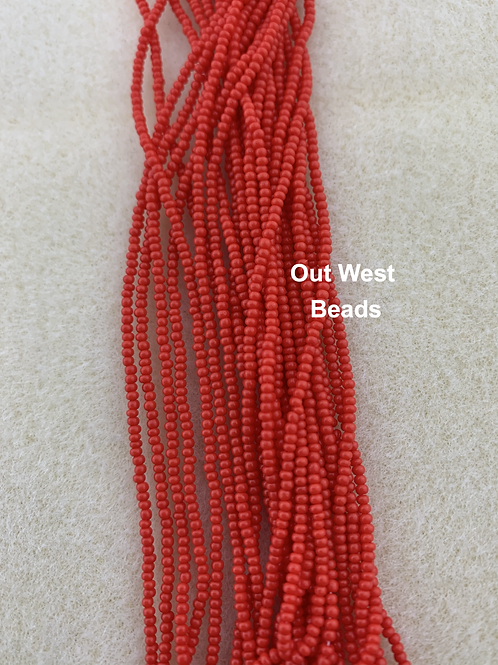 Size 13 Seed Beads Light Red - 106