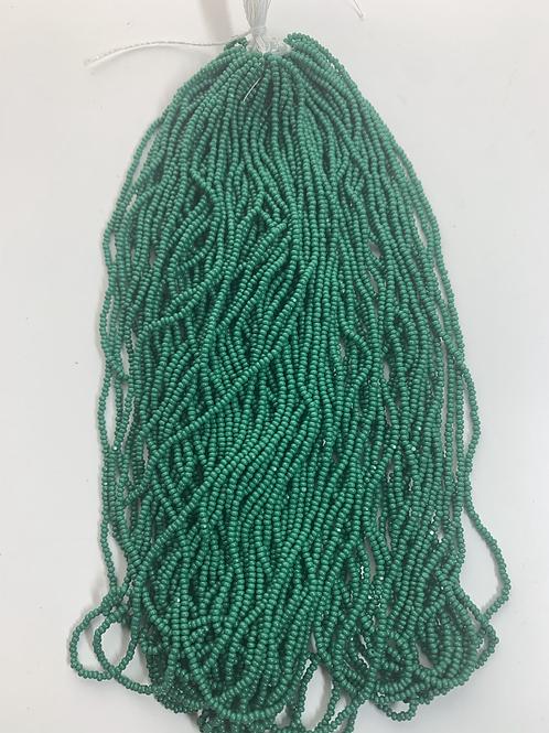 Medium Dark Green Cut Beads - 01097