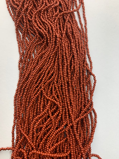 Opaque Dark Brown Seed Beads - 11 - 164