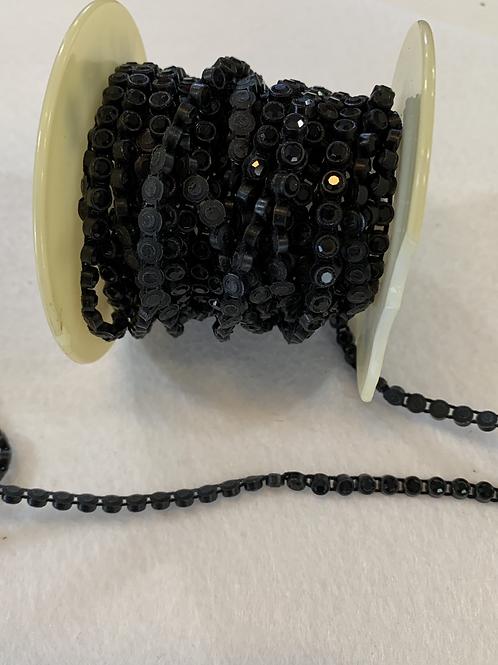 Crystal Banding SS13 - Black Crystals on Black