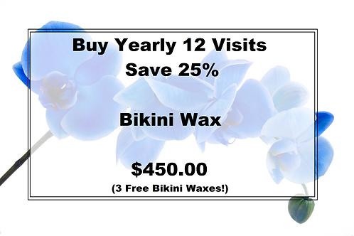 Bikini Wax Yearly--3 Free Bikini Waxes