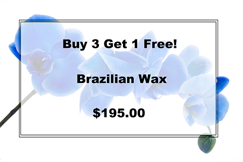 Buy 3 Get 1 Free Brazilian Wax