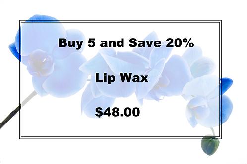 Buy 5 Lip Wax and Save 20%