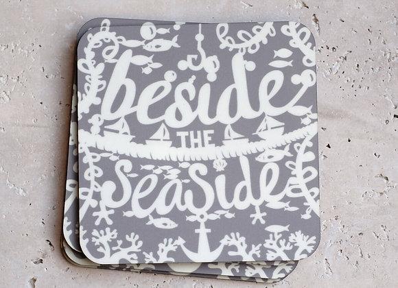 Seaside Coasters, Grey - Pack of 4