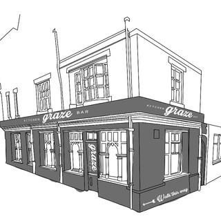 Graze Kitchen & Bar Vector Visualisation