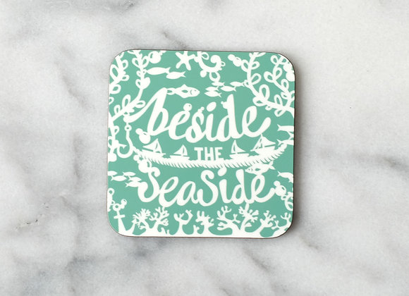 Beside the Seaside Green Pack of 4 Coasters