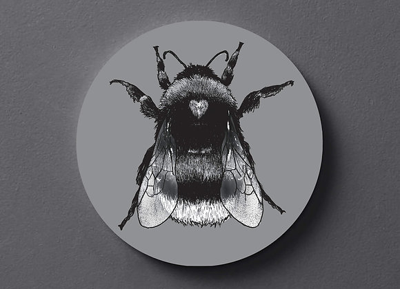 Grey Bee Coaster - Single