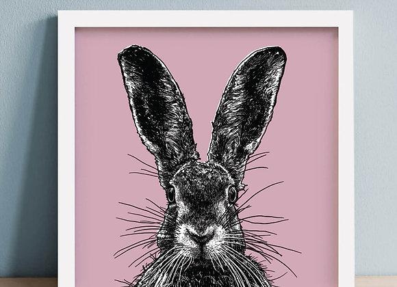"""Hare Framed Print 10 x 10"""""""
