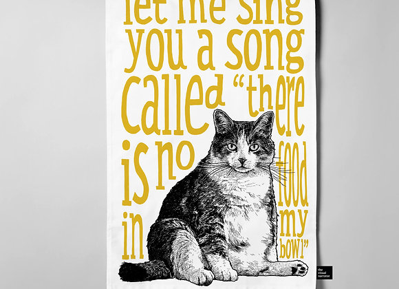 Fat Cat Teatowel