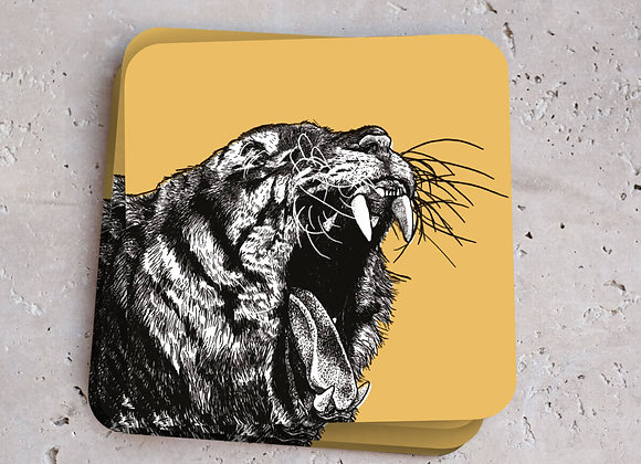 Tiger Coasters - Pack of 4
