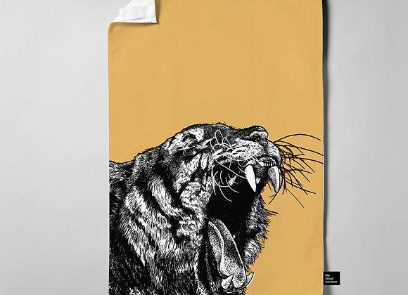 Tiger Teatowel - Ochre