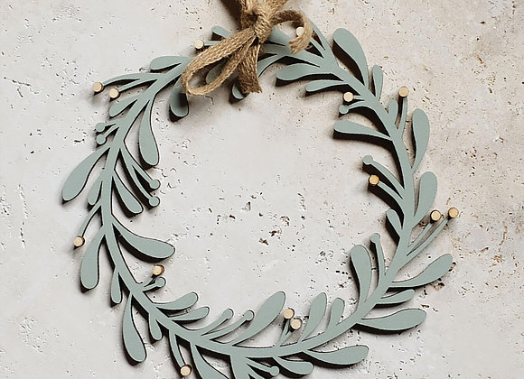 Hand-Painted Wooden Wreath