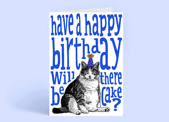 Happy Birthday Fat Cat Card