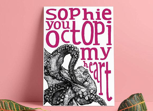 Personalised Octopus Print