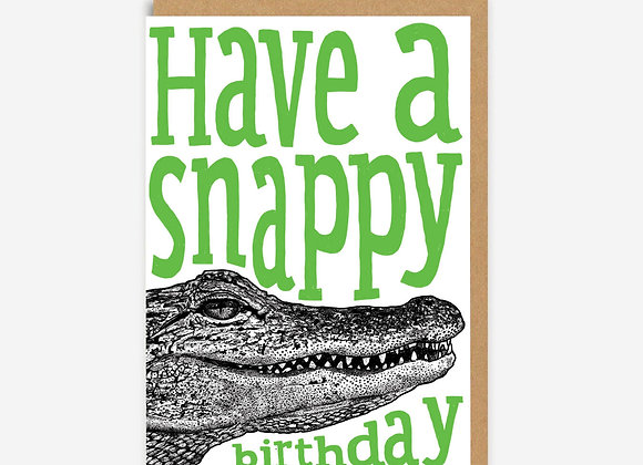 Snappy Birthday Alligator Card
