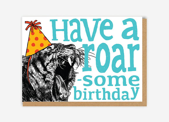 Roar-some Tiger Birthday Card