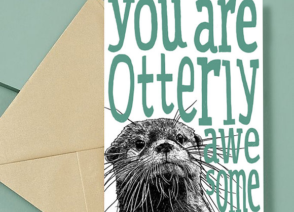 Otterly Awesome Card