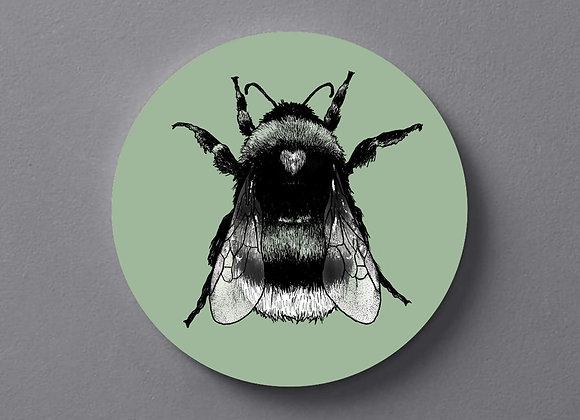 Light Green Bee Coaster - Single