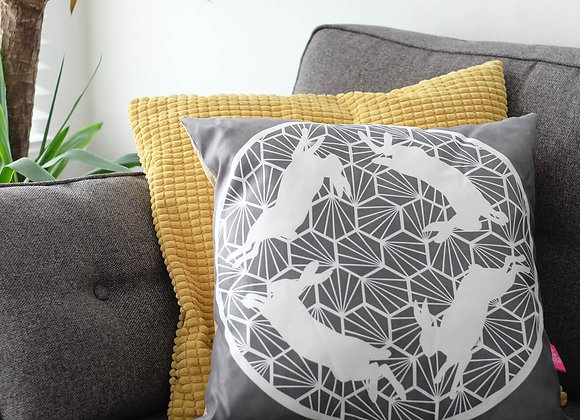 Geometric Hares Cushion
