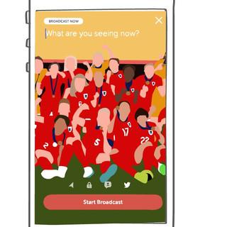 Vector Illustration of Periscope App