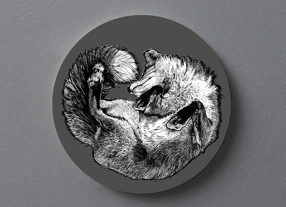 Dark Grey Fox Coaster - Single