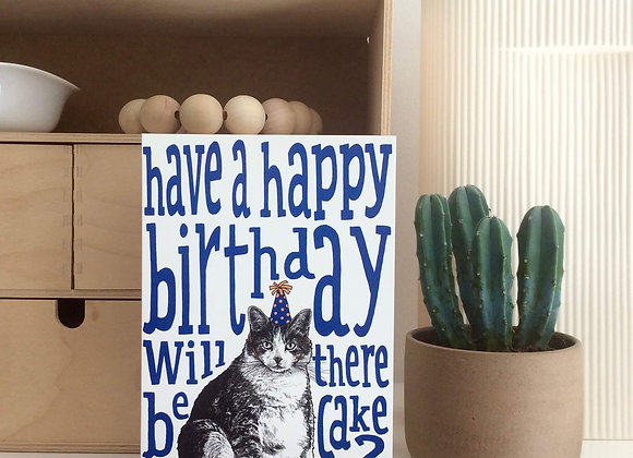 Happy Birthday Fat Cat Card