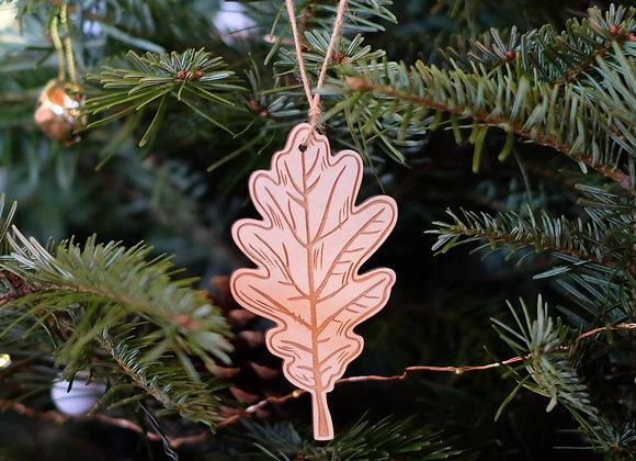 Plywood Oak Leaf Decoration- Engraved