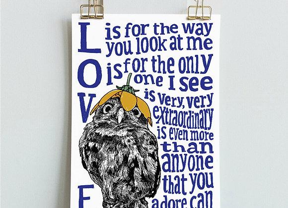 Owl Love Print
