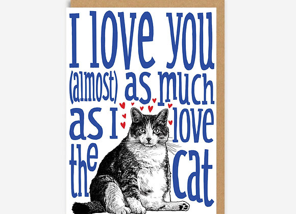 Fat Cat Love Card