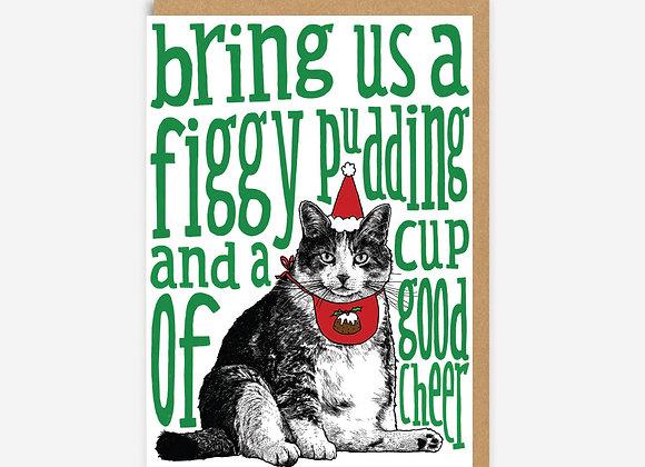 Fat Cat Christmas Card
