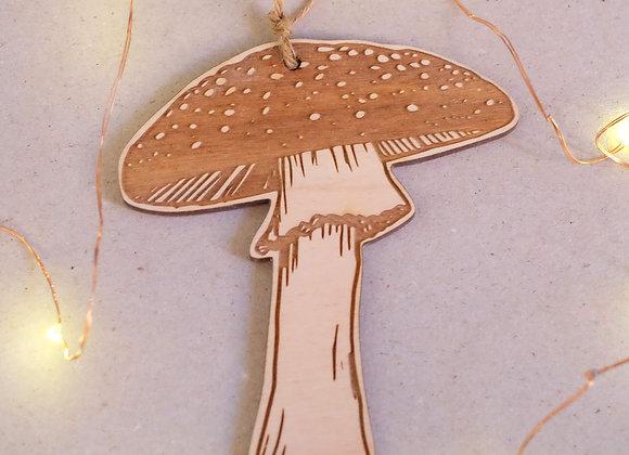 Plywood Mushroom Decoration- Engraved