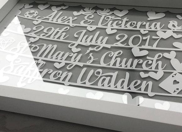 Wedding / Engagement Papercut