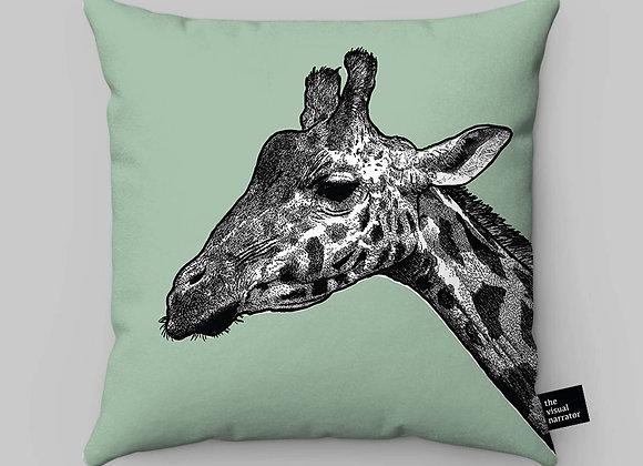 Soft Green Giraffe Cushion