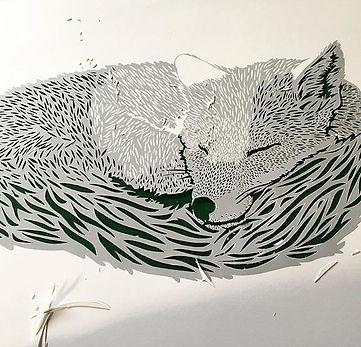 Miss papercut fox papercutting