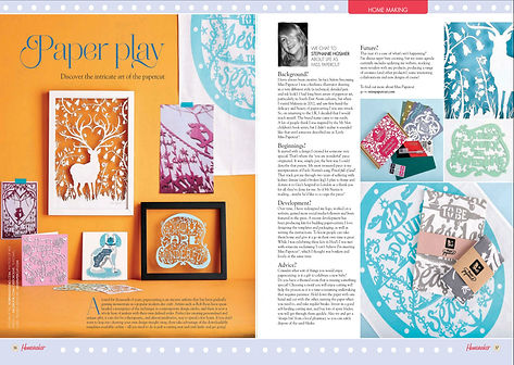 Miss Papercut feature in Homemaker magazine
