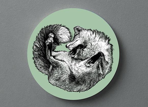 Light Green Fox Coaster - Single