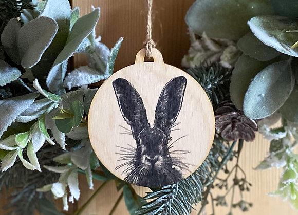 Hare Plywood Decoration