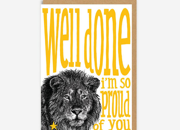 Well Done Lion Card