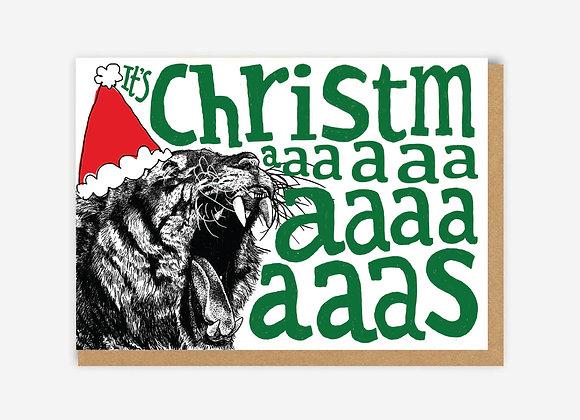 Tiger Christmas Card