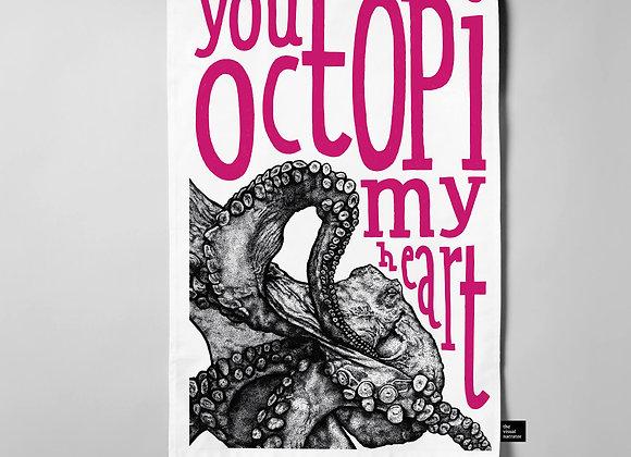 You Octopi My Heart Teatowel