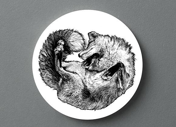 White Fox Coaster - Single